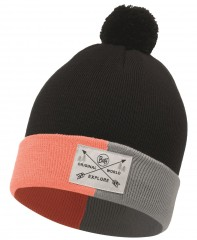 Шапка Buff JR KNITTED HAT KELDA GRAPHITE (US:one size)